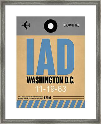 Washington D.c. Airport Poster 3 Framed Print by Naxart Studio