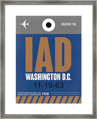 Washington D.c. Airport Poster 4 Framed Print by Naxart Studio