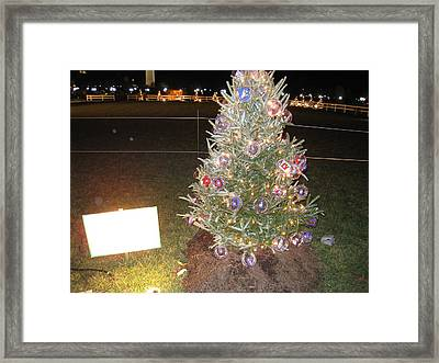 Washington Dc - Christmas At The Ellipse - 12125 Framed Print by DC Photographer