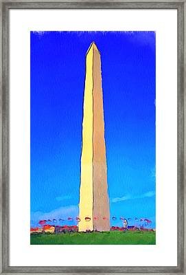 Washington Dc Memorial Framed Print by Yury Malkov