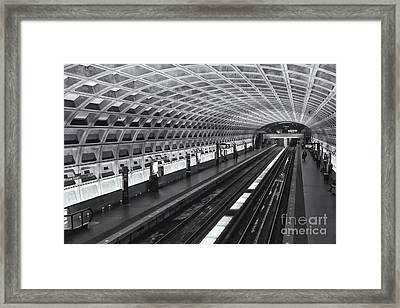 Washington Dc Metro Station I Framed Print by Clarence Holmes