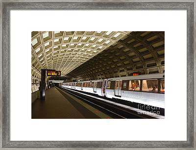 Washington Dc Metro Station IIi Framed Print by Clarence Holmes