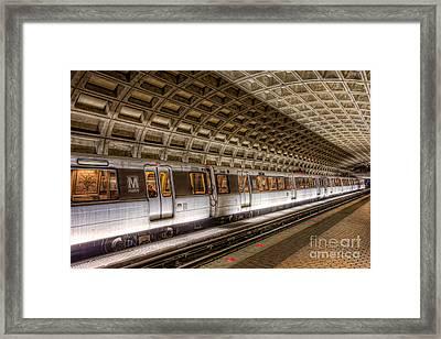 Washington Dc Metro Station V Framed Print by Clarence Holmes