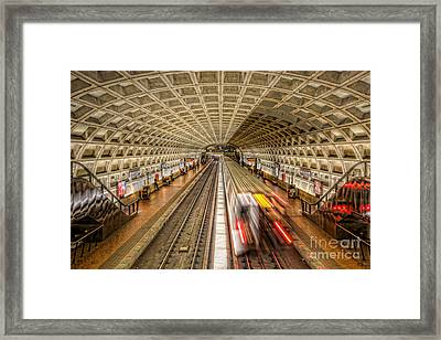 Washington Dc Metro Station Xi Framed Print by Clarence Holmes
