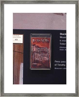 Washington Dc - Newseum - 12121 Framed Print by DC Photographer