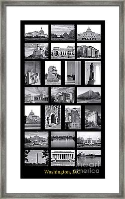 Washington Dc Poster Framed Print by Olivier Le Queinec