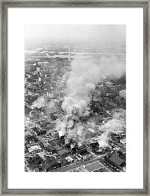 Washington Dc Race Riots Framed Print by Underwood Archives