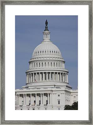 Washington Dc - Us Capitol - 01137 Framed Print by DC Photographer