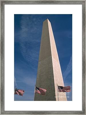 Washington Dc Washington Monument  Framed Print by Anonymous