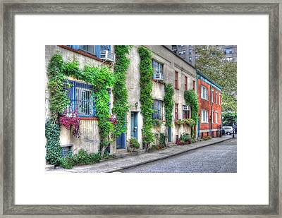 Washington Mews In Greenwich Village Framed Print by Randy Aveille