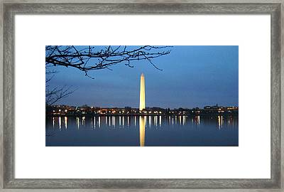 Washington Monument Framed Print by Andrew Johnson