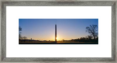 Washington Monument At Sunrise Framed Print by Panoramic Images