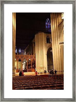 Washington National Cathedral - Washington Dc - 011312 Framed Print by DC Photographer