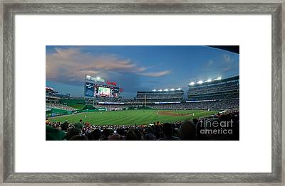 Washington Nationals In Our Nations Capitol Framed Print by Thomas Marchessault