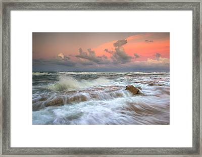 Washington Oaks State Park St. Augustine Fl - The Pastel Sea Framed Print by Dave Allen