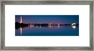 Washington Skyline Framed Print by Sebastian Musial