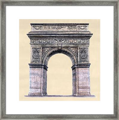 Washington Square Arch New York City Framed Print by Gerald Blaikie