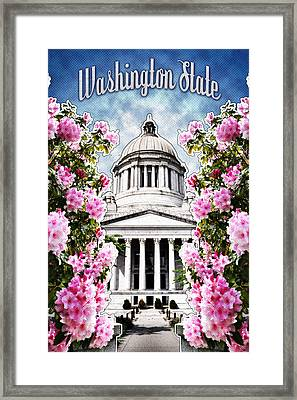Washington State Capitol Framed Print by April Moen