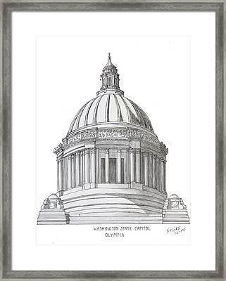 Washington State Capitol Framed Print by Frederic Kohli