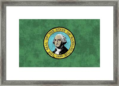 Washington State Flag Framed Print by World Art Prints And Designs