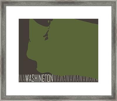Washington State Modern Framed Print by Flo Karp