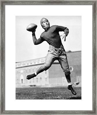 Washington State Quarterback Framed Print by Underwood Archives
