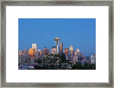 Washington State, Seattle, Skyline View Framed Print by Jamie and Judy Wild