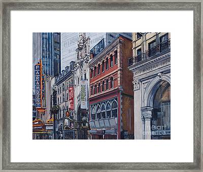 Washington Street In June Framed Print by Deb Putnam