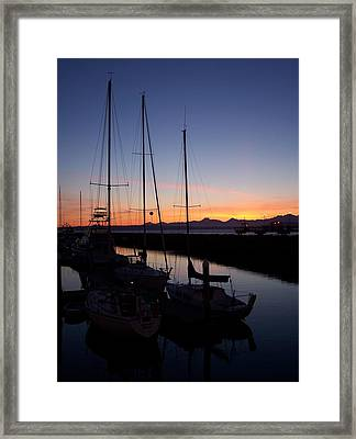 Washington Sunset Framed Print by Michael J Bauer