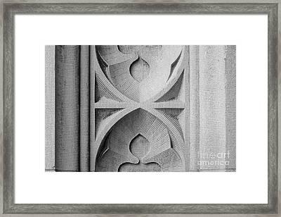 Washington University Stone Detail Framed Print by University Icons