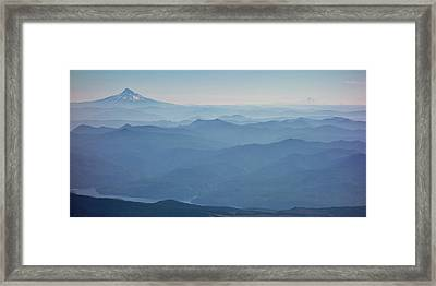 Washington View From Mount Saint Helens Framed Print by Matt Freedman