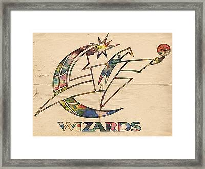 Washington Wizards Poster Art Framed Print by Florian Rodarte