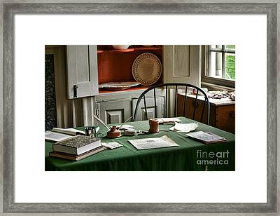 Washington Wrote Here Framed Print by Olivier Le Queinec