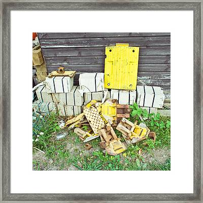 Waste Materials Framed Print by Tom Gowanlock