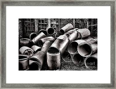 Waste Framed Print by Olivier Le Queinec