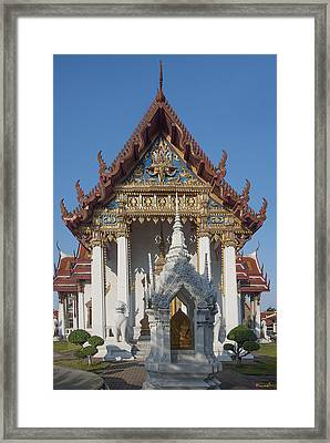 Wat Amarintaram Ubosot Dthb1507 Framed Print by Gerry Gantt