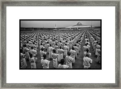 Wat Dhamma 1 Framed Print by David Longstreath