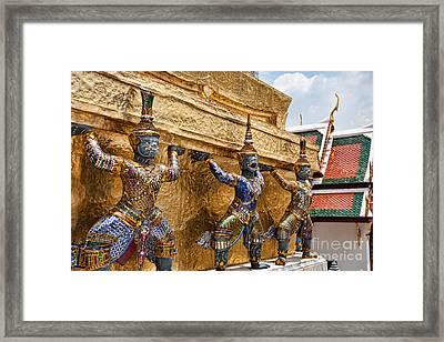 Wat Phra Kaew Framed Print by Joerg Lingnau