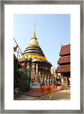 Wat Phra That Lampang Luang - Lampang Thailand - 01135 Framed Print by DC Photographer