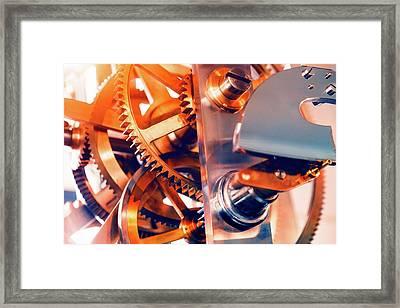 Watch Mechanism Framed Print by Wladimir Bulgar