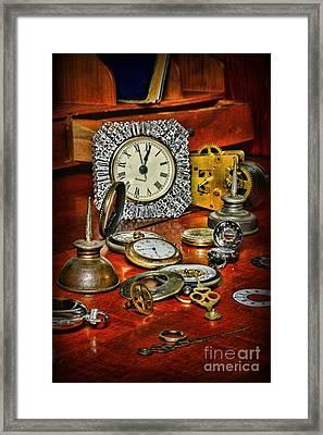 Watch Repair Framed Print by Paul Ward