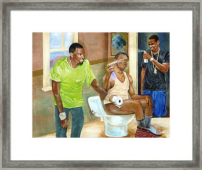 Watch The Throne Framed Print by Reuben Cheatem