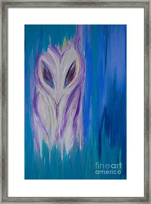 Watcher In The Blue Framed Print by First Star Art