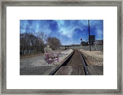 Watchful In Scottsville Virginia Framed Print by Betsy Knapp