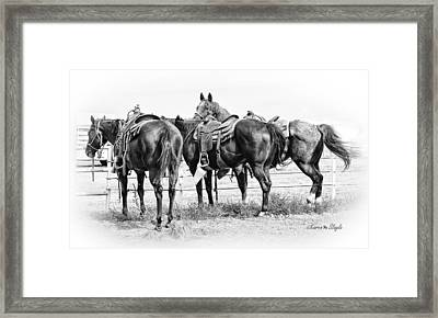 Watching And Waiting Framed Print by Karen Slagle