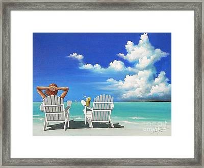 Watching Clouds Framed Print by Susi Galloway