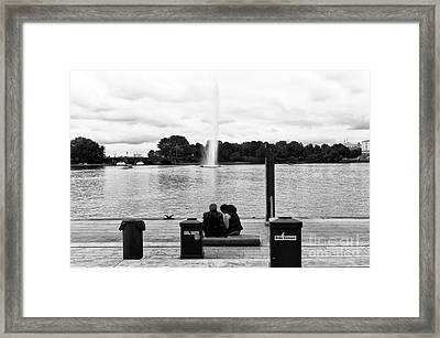 Watching It Go Up Mono Framed Print by John Rizzuto