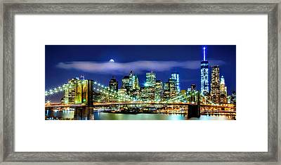 Watching Over New York Framed Print by Az Jackson