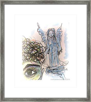 Watching Over You Framed Print by Mimulux patricia no