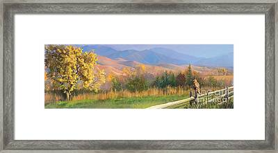 Watching The Field  Framed Print by Rob Corsetti